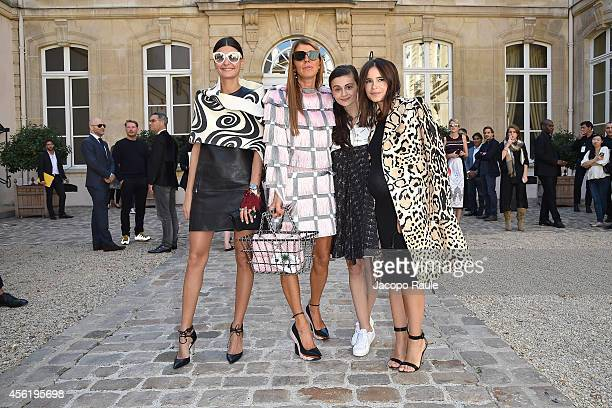 Giovanna Battaglia Anna Dello Russo Natalia Alaverdian and Miroslava Duma Attend the Viktor Rolf show as part of the Paris Fashion Week Womenswear...