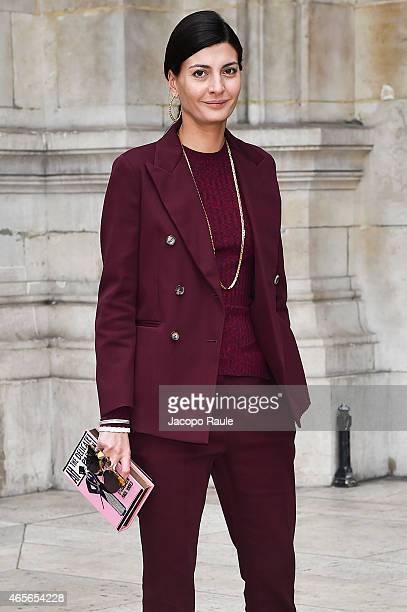 Giovanna Battaglia arrives at Stella McCartney Fashion Show during Paris Fashion Week Fall Winter 2015/2016 on March 9 2015 in Paris France