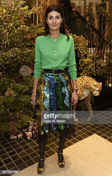 Giovanna Battaglia attends a cocktail party to honour the 2016 Fashion Awards hosted by Natalie Massenet Lauren Santo Domingo and Derek Blasberg on...