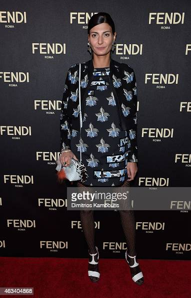 Giovanna Battaglia attends FENDI celebrates the opening of the New York flagship store on February 13 2015 in New York City