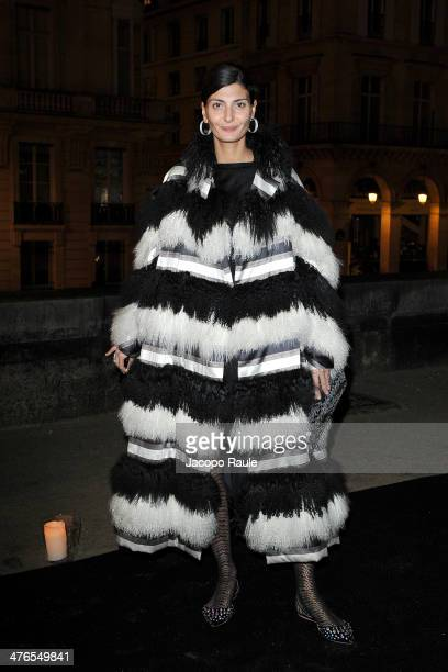 Giovanna Battaglia attends Gaia Repossi's Jewelry Collection At Jeu de Paume as part of the Paris Fashion Week Womenswear Fall/Winter 20142015 on...