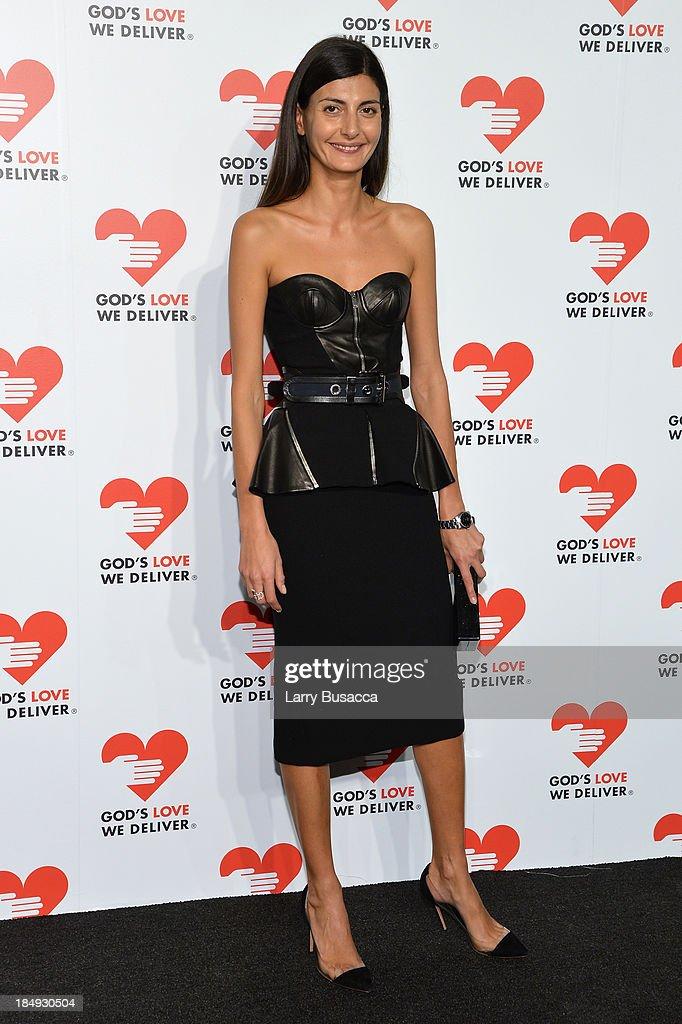 Giovanna Battaglia attends God's Love We Deliver 2013 Golden Heart Awards Celebration at Spring Studios on October 16, 2013 in New York City.