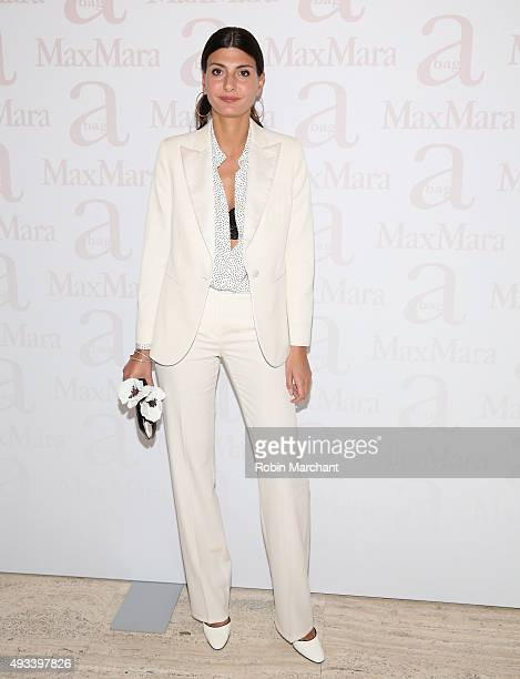 Giovanna Battaglia attends Max Mara Spring/Summer 2016 Accessories Campaign Celebration at Four Seasons Restaurant on October 19 2015 in New York City