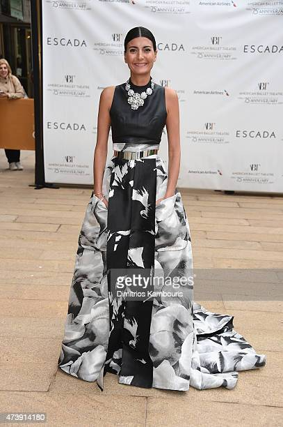 Giovanna Battaglia attends the American Ballet Theatre's 75th Anniversary Diamond Jubilee Spring Gala at The Metropolitan Opera House on May 18 2015...