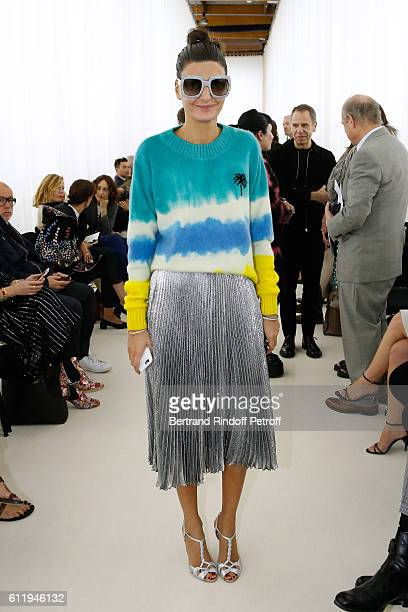Giovanna Battaglia attends the Balenciaga show as part of the Paris Fashion Week Womenswear Spring/Summer 2017 on October 2 2016 in Paris France
