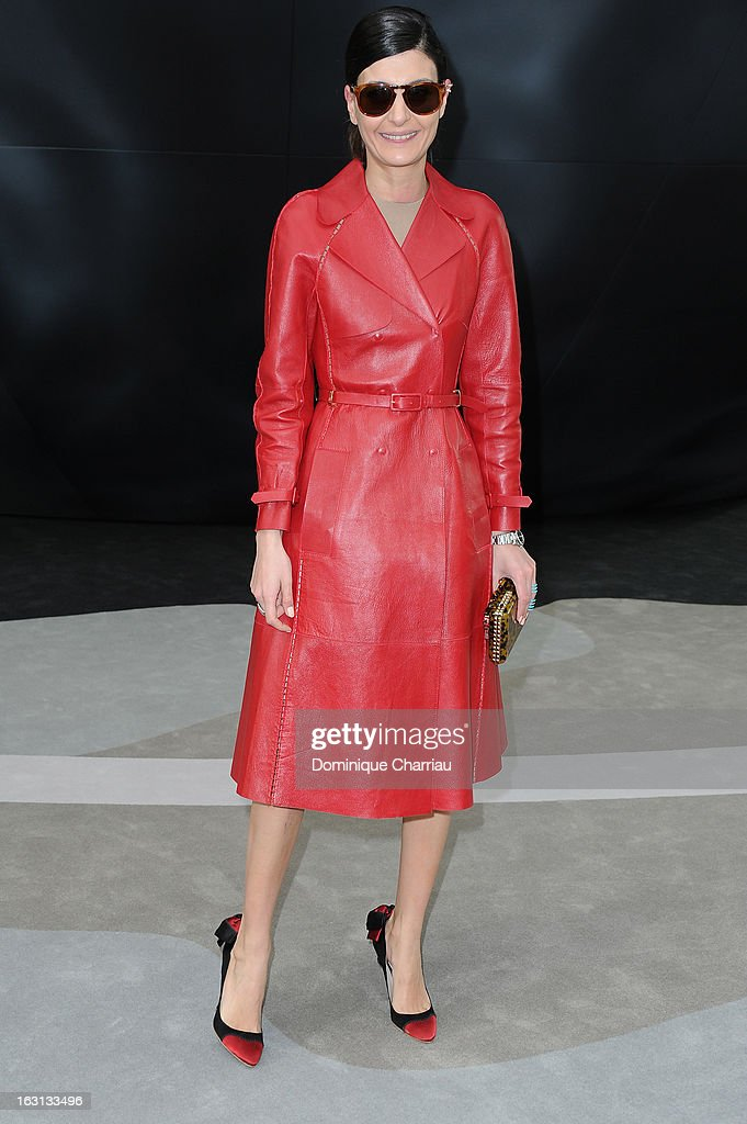 Giovanna Battaglia attends the Chanel Fall/Winter 2013 Ready-to-Wear show as part of Paris Fashion Week at Grand Palais on March 5, 2013 in Paris, France.