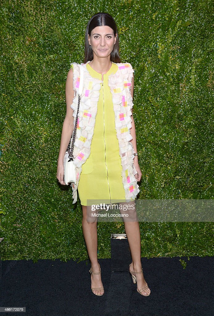 <a gi-track='captionPersonalityLinkClicked' href=/galleries/search?phrase=Giovanna+Battaglia&family=editorial&specificpeople=2215032 ng-click='$event.stopPropagation()'>Giovanna Battaglia</a> attends the CHANEL Tribeca Film Festival Artists Dinner at Balthazar on April 22, 2014 in New York City.