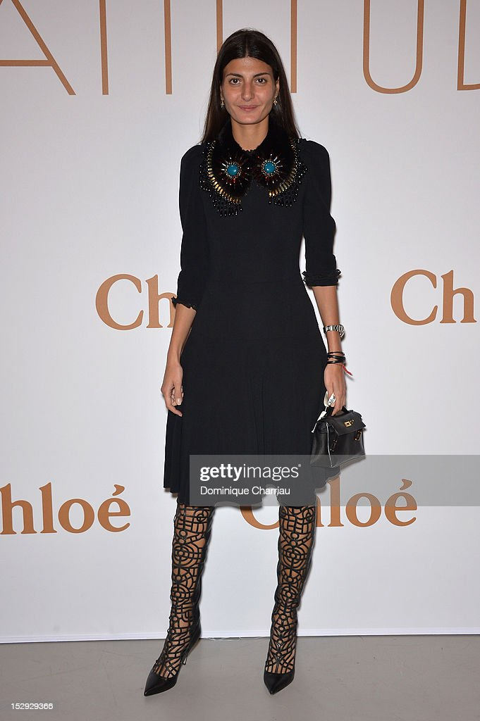 Giovanna Battaglia attends The Chloe 60th Anniversary Celebration at Palais De Tokyo on September 28, 2012 in Paris, France.