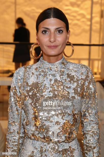Giovanna Battaglia attends the Emilia Wickstead show during London Fashion Week September 2017 on September 18 2017 in London England