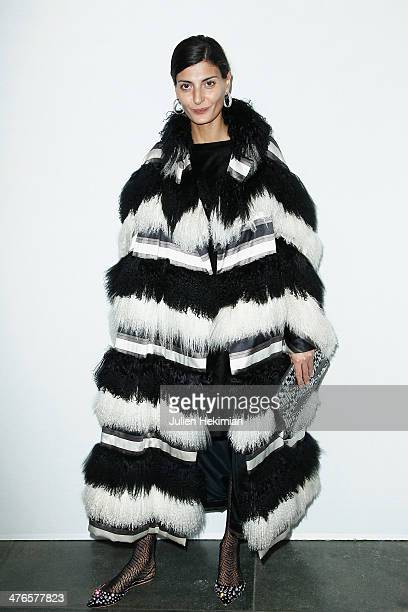Giovanna Battaglia attends the Gaia Repossi's Jewelry Collection launch at Jeu de Paume as part of the Paris Fashion Week Womenswear Fall/Winter...