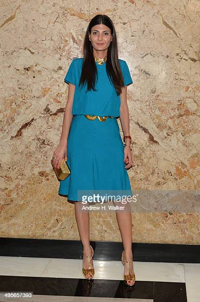 Giovanna Battaglia attends the Gucci beauty launch event hosted by Frida Giannini on June 4 2014 in New York City
