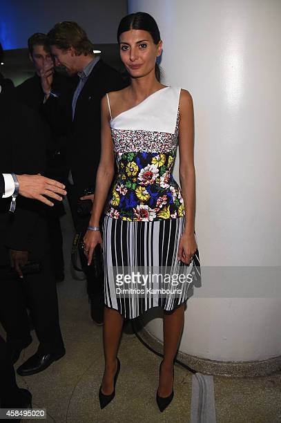 Giovanna Battaglia attends the Guggenheim International Gala PreParty made possible by Dior on November 5 2014 in New York City