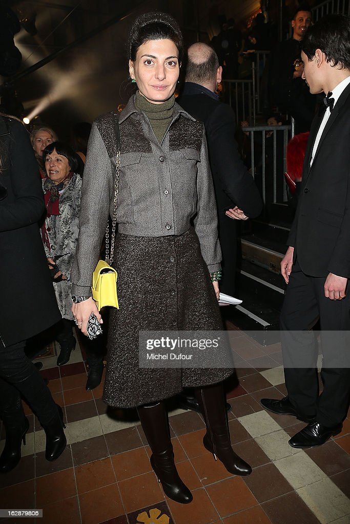 <a gi-track='captionPersonalityLinkClicked' href=/galleries/search?phrase=Giovanna+Battaglia&family=editorial&specificpeople=2215032 ng-click='$event.stopPropagation()'>Giovanna Battaglia</a> attends the Lanvin Fall/Winter 2013 Ready-to-Wear show as part of Paris Fashion Week on February 28, 2013 in Paris, France.