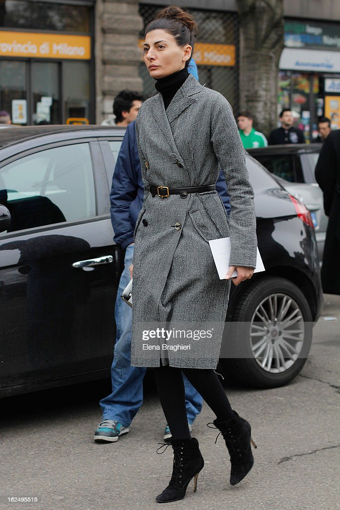 <a gi-track='captionPersonalityLinkClicked' href=/galleries/search?phrase=Giovanna+Battaglia&family=editorial&specificpeople=2215032 ng-click='$event.stopPropagation()'>Giovanna Battaglia</a> attends the Milan Fashion Week Womenswear Fall/Winter 2013/14 on February 23, 2013 in Milan, Italy.