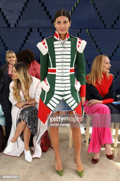 Giovanna Battaglia attends the Roksanda show during London Fashion Week September 2017 on September 18 2017 in London England