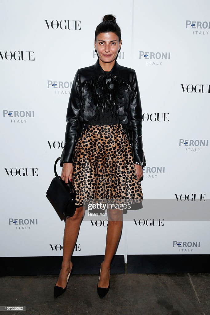 Giovanna Battaglia attends The Visionary World of Vogue Italia Exhibition Opening Night presented by Peroni Nastro Azzurro on October 14 2014 in New...