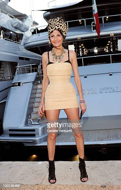 Giovanna Battaglia departs for Naomi Campbell's birthday party during the 63rd Annual International Cannes Film Festival on May 22 2010 in Cannes...
