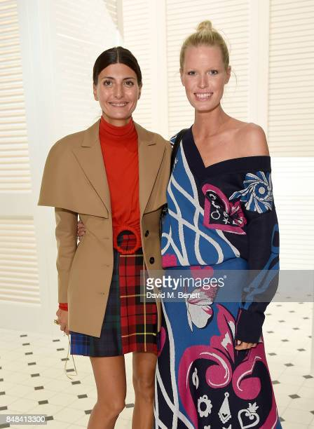 Giovanna Battaglia Engelbert and Caroline Winberg attend Temperley London Fashion Show SS 18 during London Fashion Week at The Lindley Hall on...