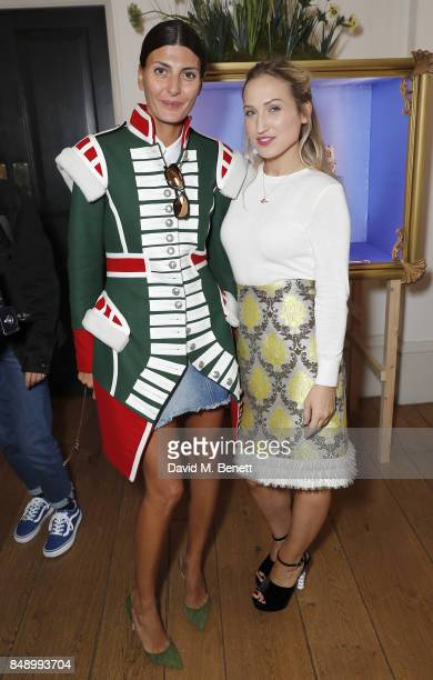 Giovanna Battaglia Engelbert and Sophia Webster attend the Sophia Webster SS18 Presentation at The Portico Rooms Somerset House on September 18 2017...