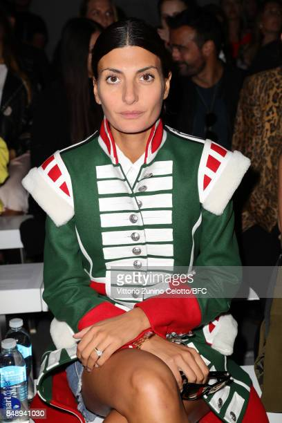Giovanna Battaglia Engelbert attends the David Koma show during London Fashion Week September 2017 on September 18 2017 in London England