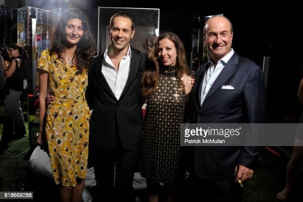 Giovanna Battaglia Massimiliano Giornetti Chiara Clemente and Michele Norsa attend FERRAGAMO Launches ATTIMO On The Top of The Standard at The...
