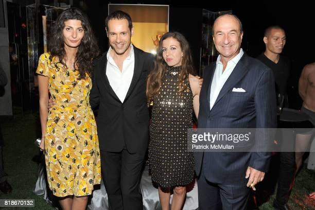 Giovanna Battaglia Massimiliano Giornetti Chiara Clemente and Michele Norsa attend SALVATORE FERRAGAMO ATTIMO Launch Event at The Standard Hotel on...