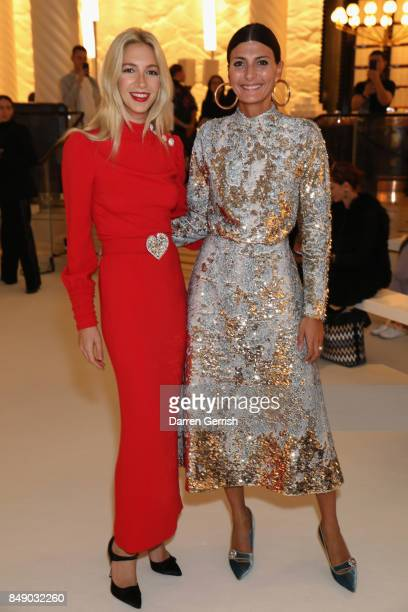 Giovanna Battaglia Sabine Getty attend the Roksanda show during London Fashion Week September 2017 on September 18 2017 in London England