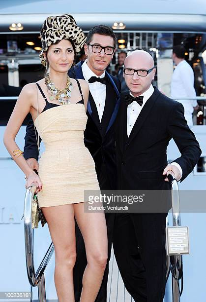 Giovanna Battaglia Stefano Gabbana and Domenico Dolce depart for Naomi Campbell's birthday party during the 63rd Annual International Cannes Film...