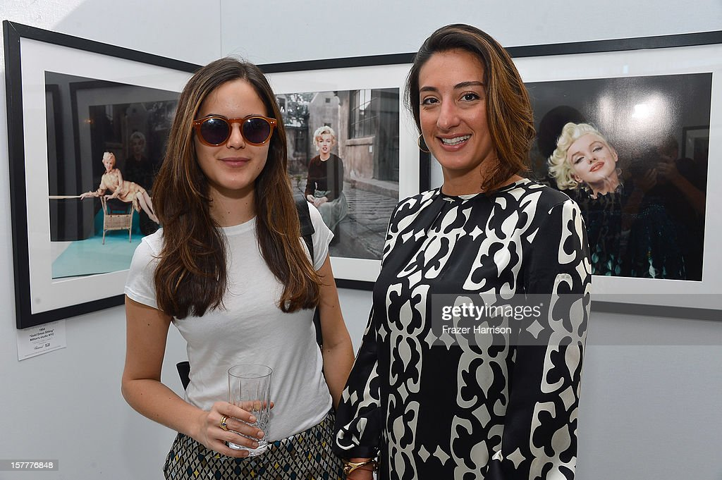 Giovanna Campagna and Audra Asencio attend the Chopard and W Magazine 'Marilyn Forever' exhibition at Soho Beach House on December 6, 2012 during Art Basel Miami in Miami Beach, Florida.
