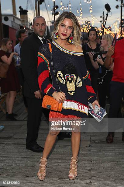 Giovanna Ewbank attends the #TOMMYNOW Women's Fashion Show during New York Fashion Week at Pier 16 on September 9 2016 in New York City