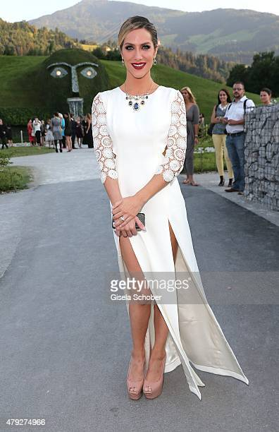 Giovanna Ewbank Local Ambassador Brazil during the Swarovski new collection launch event on July 2 2015 in Wattens Austria