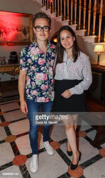 Giovanna Fletcher and Tom Fletcher attends the press night performance of 'Bat Out Of Hell The Musical' at The London Coliseum on June 20 2017 in...