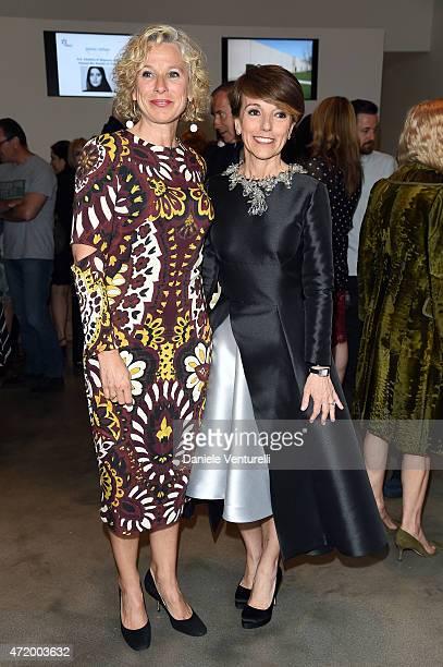 Giovanna Melandri and Patrizia Sandretto Re Rebaudengo attends Fondazione Sandretto Re Rebaudengo Premio StellaRe at Sheikha Al Mayassa on May 2 2015...