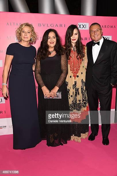 Giovanna Melandri Angla Missoni Teresa Missoni and Jean Christophe Babin attend the Bulgari Gala Dinner Photocall at Maxxi Museum on November 29 2014...