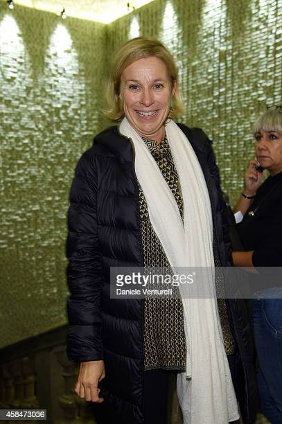 Giovanna Melandri attends 'SHIT AND DIE' Vernissage at palazzo Cavour on November 5 2014 in Turin Italy