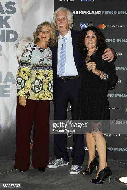 Giovanna Melandri Douglas Kirkland and Franoise Kirkland attend 'Douglas Kirkland Fermo Immagine' exhibition opening at MAXXI Museum on October 17...