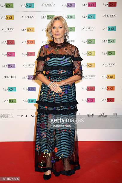Giovanna Melandri President of Fondazione MAXXI attends a photocall for the MAXXI Acquisition Gala Dinner 2016 at Maxxi Museum on November 7 2016 in...