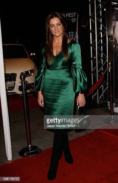 Giovanna Mezzogiorno arrives at the AFI FEST 2007 presented by Audi closing night gala screening of 'Love In The Time Of Cholera' during held at the...