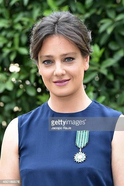 Giovanna Mezzogiorno attends the Chevalier Des Arts Et Des Lettres Award ceremony on June 6 2014 in Milan Italy