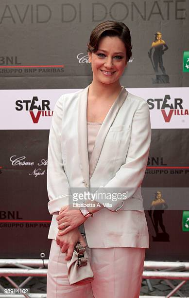 Giovanna Mezzogiorno attends the 'David Di Donatello' Italian Movie Awards on May 7 2010 in Rome Italy