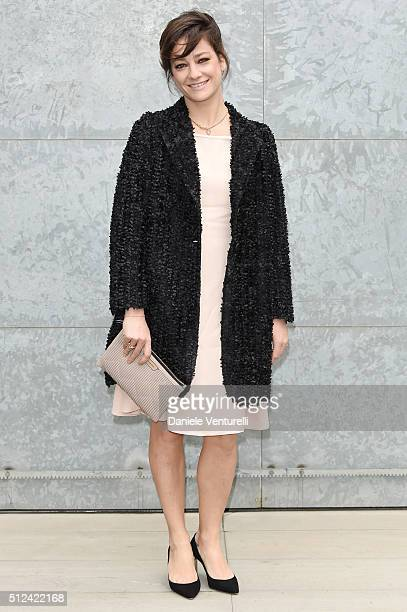 Giovanna Mezzogiorno attends the Emporio Armani show during Milan Fashion Week Fall/Winter 2016/17 on February 26 2016 in Milan Italy