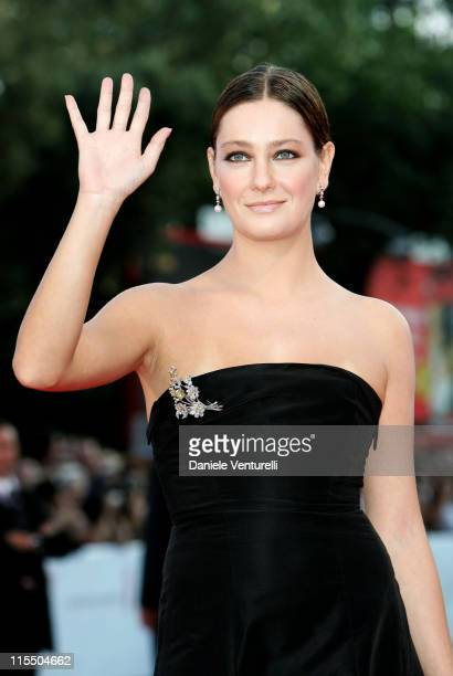 Giovanna Mezzogiorno during 2005 Venice Film Festival Closing Ceremony Red Carpet at Palazzo del Cinema in Venice Lido Italy