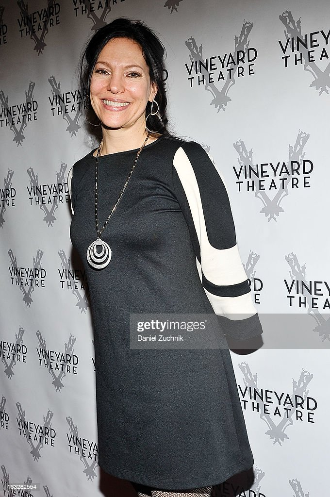 Giovanna Sardelli attends the off Broadway opening night of 'The North Pool' at Vineyard Theatre on March 6, 2013 in New York City.