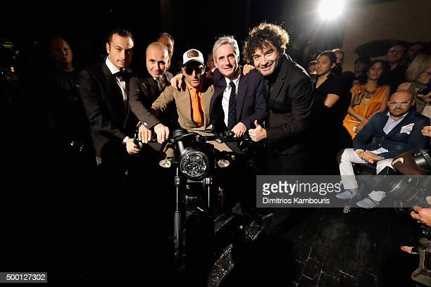 Giovanni Accongiagioco Chris King Lapo Elkann Andrea Tessitore CEO of Italia Independent and Alessandro Cicogiani attend the Italia Independent X...