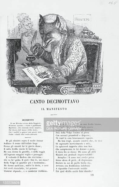 Giovanni Battista Casti Gli Animali Parlanti Illustrated page edition Tipografia G Cassone 1849