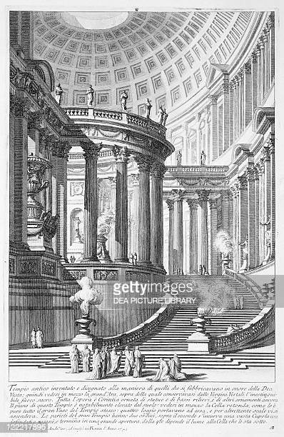 Giovanni Battista Piranesi View of the Temple of the Vestal Virgins at Rome Etching from 'Antichità sul gusto degli antichi romani' 18th century
