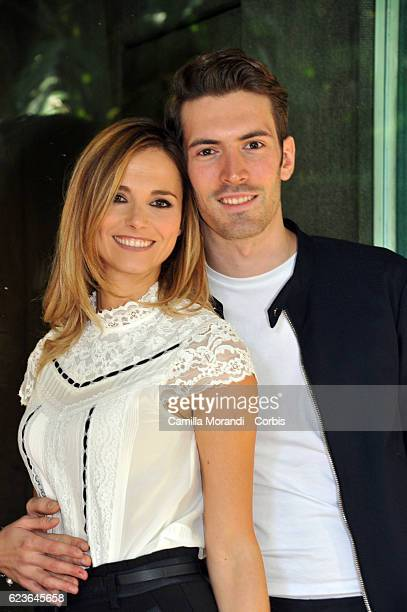 Giovanni Caccamo and Francesca Fialdini attend 'Zecchino d'Oro' Photocall on November 16 2016 in Rome Italy