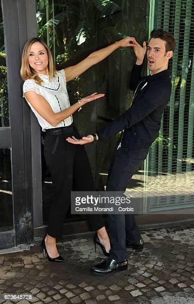 Giovanni Caccamo and Francesca Fialdini attend 'Zecchino d'Oro' Photocall on November 16 2016 in Rome Italy