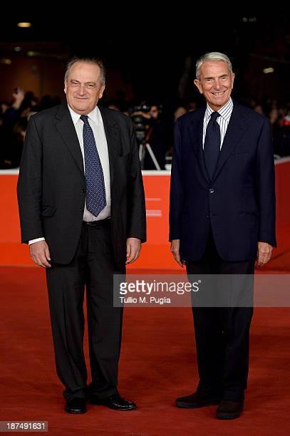 Giovanni Cottone and Carlo Rossella attend 'Federico Degli Spiriti' Premiere during The 8th Rome Film Festival at Auditorium Parco Della Musica on...