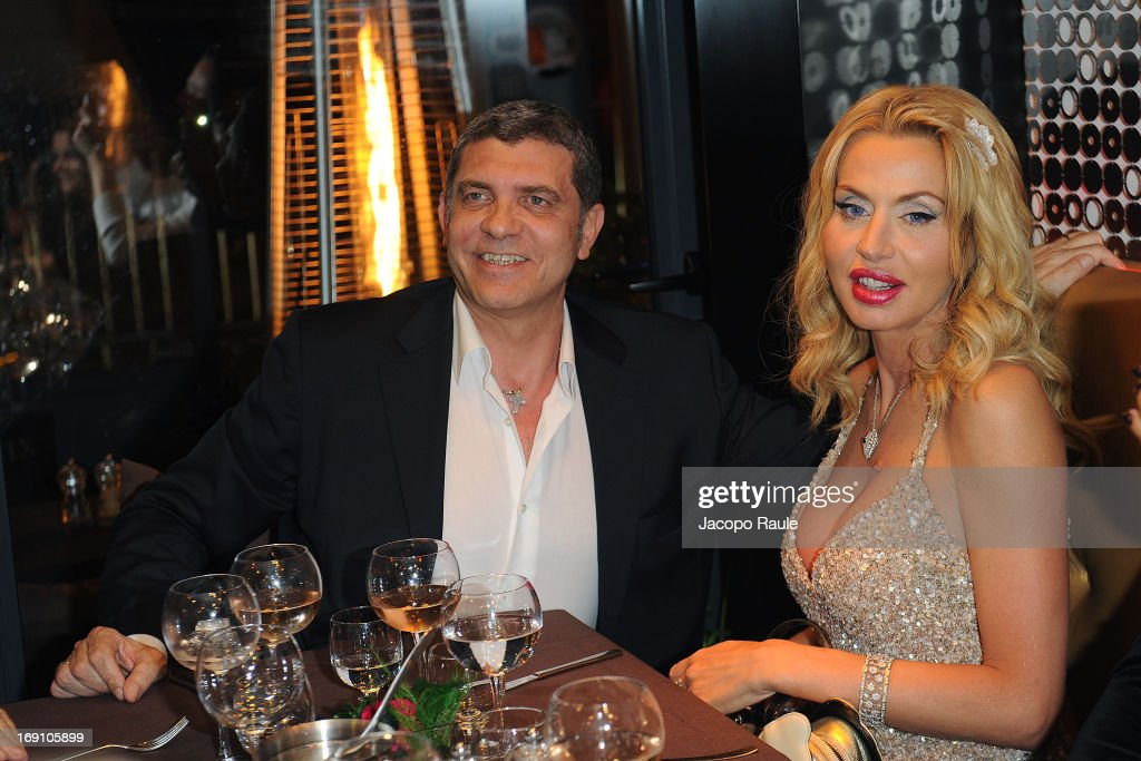 Giovanni Cottone and Valeria Marini are seen during The 66th Annual Cannes Film Festival on May 18, 2013 in Cannes, France.